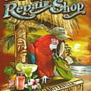 Jimmy Buffett's Flip Flop Repair Shop Poster by Desiderata Gallery
