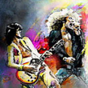 Jimmy Page And Robert Plant Led Zeppelin Poster by Miki De Goodaboom