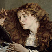 Jo The Beautiful Irish Girl Poster by Gustave Courbet
