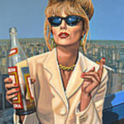 Joanna Lumley As Patsy Stone Poster by Paul Meijering