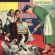 John Bull 1957 1950s Uk Dogs Cleaning Poster by The Advertising Archives