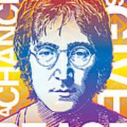 John Lennon Pop Art Poster by Jim Zahniser