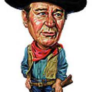 John Wayne Poster by Art