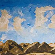 Joshua Tree National Park And Summer Clouds Poster by Carolina Liechtenstein