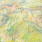 Jumping Horses Poster by Franz Marc