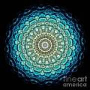 Kaleidoscope Aquamarine Bubbles Poster by Amy Cicconi