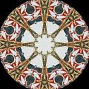 Kaleidoscope Wheel Poster by Cathy Lindsey