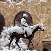 Keeneland In Winter Poster by Sid Webb