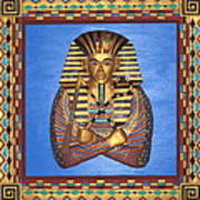 King Tut - Handcarved Poster by Michael Pasko