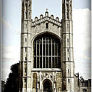 King's College Chapel - Poster Poster by Stephen Stookey