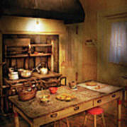 Kitchen - Granny's Stove Poster by Mike Savad