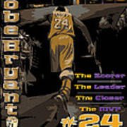Kobe Bryant Game Over Poster by Israel Torres