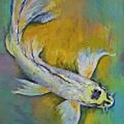 Kujaku Butterfly Koi Poster by Michael Creese