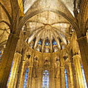 La Catedral Barcelona Cathedral Poster by Matthias Hauser