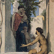 La Charite Romaine Poster by William Bouguereau