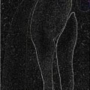 Lady In A Charcoal Bow Entwined Figures Series Poster by Cathy Peterson