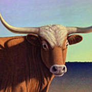 Lady Longhorn Poster by James W Johnson