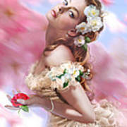 Lady Of The Camellias Poster by Drazenka Kimpel