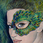 Lady Peacock Poster by Dorina  Costras