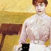Lady With Black Kitten Poster by Giuseppe De Nittis