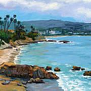 Laguna Beach Winter Poster by Alice Leggett