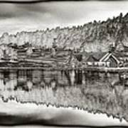 Lake House Reflection Poster by Ron White