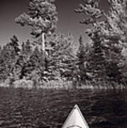 Lake Kayaking Bw Poster by Steve Gadomski