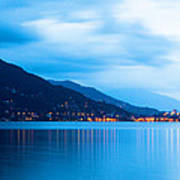 Lake Maggiore Before Sunrise Poster by Susan Schmitz