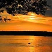 Lake Panarama Sunset Poster by Bob Hislop