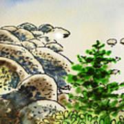 Lake Tahoe - California Sketchbook Project Poster by Irina Sztukowski