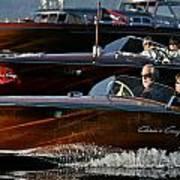 Lake Tahoe Speedboats Poster by Steven Lapkin