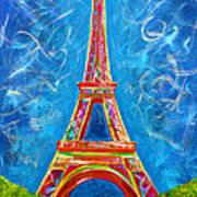 L'amour A Paris Poster by Teshia Art