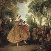Lancret, Nicolas 1690-1743. Mlle Poster by Everett