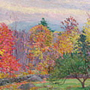 Landscape At Hancock In New Hampshire Poster by Lilla Cabot Perry