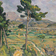 Landscape With Viaduct Poster by Paul Cezanne