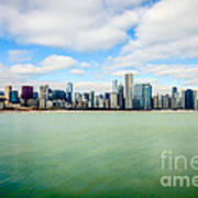 Large Picture Of Downtown Chicago Skyline Poster by Paul Velgos