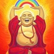 Laughing Rainbow Buddha Poster by Sue Halstenberg