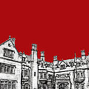 Laurel Hall In Red -portrait- Poster by Adendorff Design