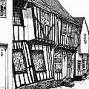 Lavenham Timber Poster by Shirley Miller