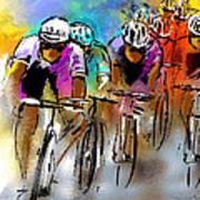 Le Tour De France 03 Poster by Miki De Goodaboom