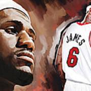 Lebron James Artwork 2 Poster by Sheraz A