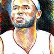 Lebron James  Poster by Jon Baldwin  Art