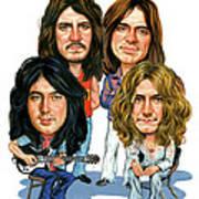 Led Zeppelin Poster by Art