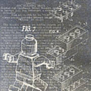 Lego Patent Poster by Nick Pappas