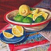 Lemons And Limes Poster by Joy Nichols
