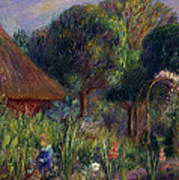 Lenna By A Summer House Poster by William James Glackens