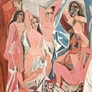 Les Demoiselles D' Avignon Poster by Reproduction