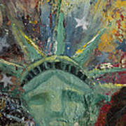 Liberty Breaking Out Poster by Trish Bilich