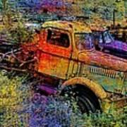 Liberty Truck Abstract Poster by Robert Jensen