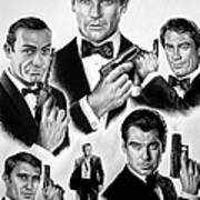 Licence To Kill  Bw Poster by Andrew Read